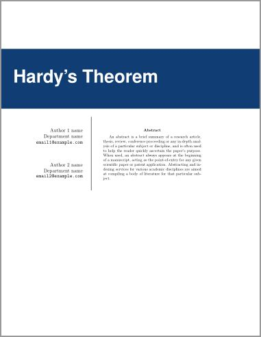 Cover page for thesis in latex sheets